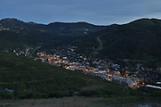 SHOT 7/1/17 8:24:23 PM - Park City lies east of Salt Lake City in the western state of Utah. Framed by the craggy Wasatch Range, it's bordered by the Deer Valley Resort and the huge Park City Mountain Resort, both known for their ski slopes. Utah Olympic Park, to the north, hosted the 2002 Winter Olympics and is now predominantly a training facility. In town, Main Street is lined with buildings built during a 19th-century silver mining boom. (Photo by Marc Piscotty / © 2017)
