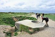 Frankrijk, Point du Hoc, 11-5-2013Serie over de invasie door de geallieerden op de stranden van Normandie, 6 juni 1944. De gebombardeerde bunkers van Point-du-Hoc. Bevrijding, herdenking, 2e, tweede wereldoorlog, oorlog, atlantik wall, dday, d-day, d dayFoto: Flip Franssen/Hollandse Hoogte