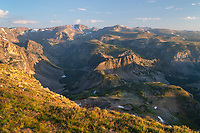Beartooth Mountains seen from Beartooth Pass, Custer Gallatin National Forest Montana