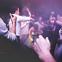 Wedding Photos by Connie Roberts Photography<br /> Smoke machine dance party