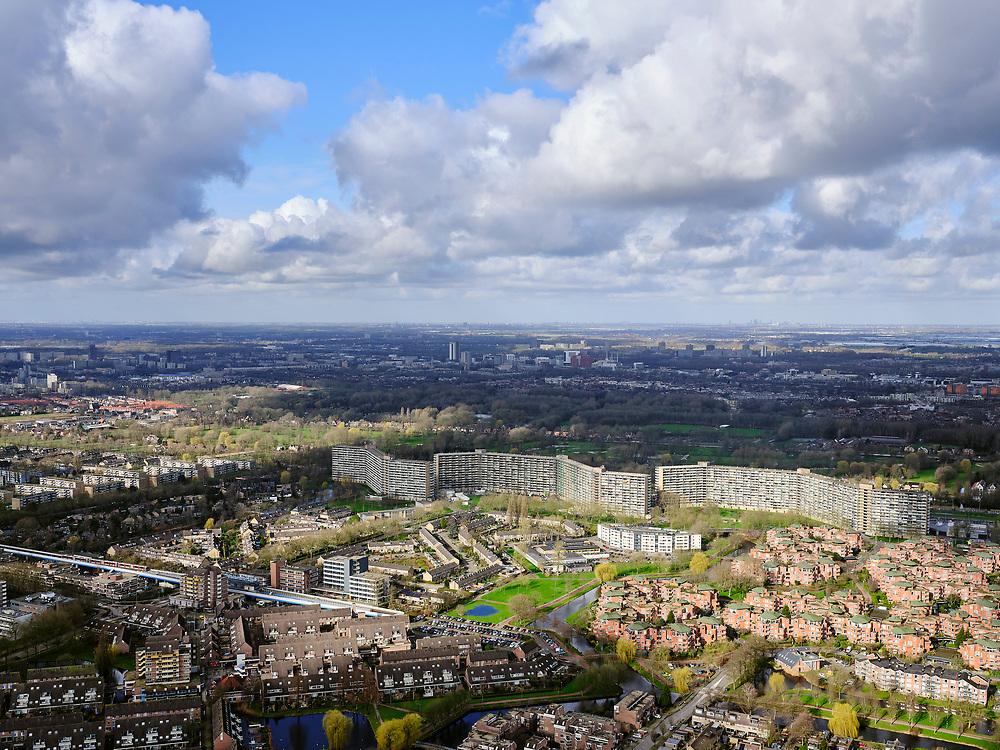Nederland, Zuid-Holland, Capelle aan den IJssel, 25-02-2020; Bergenbuurt met hoogbouw, onderdeel van deel uit van de wijk Oostgaarde.<br /> <br /> luchtfoto (toeslag op standard tarieven);<br /> aerial photo (additional fee required)<br /> copyright © 2020 foto/photo Siebe Swart
