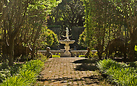NC01350-00...NORTH CAROLINA -Statue in the Sunken Garden section of the Elizabethan Gardens , at popular tourist attraction in Manteo on Roanoke Island.