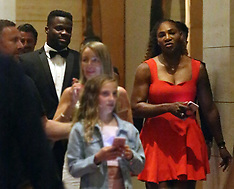 Serena Williams arrives with Frances Tiafoe at the Hopman Cup Ball - 1 Jan 2019