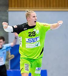 03.02.2017, BSFZ Suedstadt, Maria Enzersdorf, AUT, HLA, SG INSIGNIS Handball WESTWIEN vs HC FIVERS WAT Margareten, HLA Oberes Playoff, 1. Runde, im Bild Wilhelm Jelinek (SG INSIGNIS Handball WESTWIEN) // during Handball League Austria, upper play off, 1 st round match between SG INSIGNIS Handball WESTWIEN and HC FIVERS WAT Margareten at the BSFZ Suedstadt, Maria Enzersdorf, Austria on 2017/02/03, EXPA Pictures © 2017, PhotoCredit: EXPA/ Sebastian Pucher