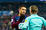 Thiago Silva (psg) during the French Cup football match between Paris Saint-Germain and Marseille on February 28, 2018 at Parc des Princes Stadium in Paris, France - Photo Pierre Charlier / ProSportsImages / DPPI