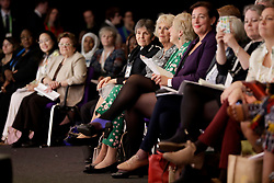 The Duchess of Cornwall sitting next to Commissioner of the Metropolitan Police Cressida Dick as she attends a roundtable meeting and the closing session of the Women's Forum at the Queen Elizabeth II Conference Centre in London, during the Commonwealth Heads of Government Meeting.