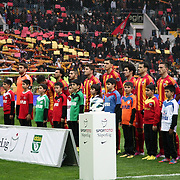 Kayserispor's players during their Turkish superleague soccer match Kayserispor between Galatasaray at Kadir Has Stadium in Kayseri Turkey on Sunday, 17 March 2013. Photo by TURKPIX