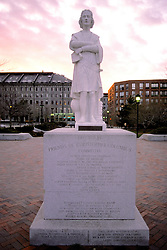 Boston Scenic Columbus Statue