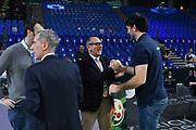 Egidio Bianchi, Andrea Meneghin<br /> AX Armani Exchange Milano - Vanoli Cremona<br /> Zurich Connect LBA Final 8 2020<br /> Quarti di Finale<br /> Pesaro, 13/02/2020<br /> Foto Michele Longo // CIAMILLO-CASTORIA, Andrea Mene