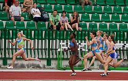 Sabina Veit, Merlene Ottey, Kristina Zumer, Pia Tajnikar, Sara Strajnar and Tina Murn during women 100m finals at Slovenian National Championships in athletics 2010, on July 17, 2010 in Velenje, Slovenia. (Photo by Vid Ponikvar / Sportida)