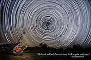 Time-exposure of polar star trails. While My Guitar Gently Weeps (George Harrison)