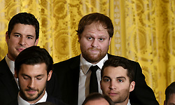 Penguins' Sidney Crosby (C) looks on during a ceremony to welcome the Stanley Cup Champions, The Pittsburgh Penguins to the White House Oct. 10, 2017 in Washington D.C.. Photo by Olivier Douliery/ Abaca Press