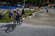 #128 (HATAKEYAMA Sae) JPN during round 4 of the 2017 UCI BMX  Supercross World Cup in Zolder, Belgium.