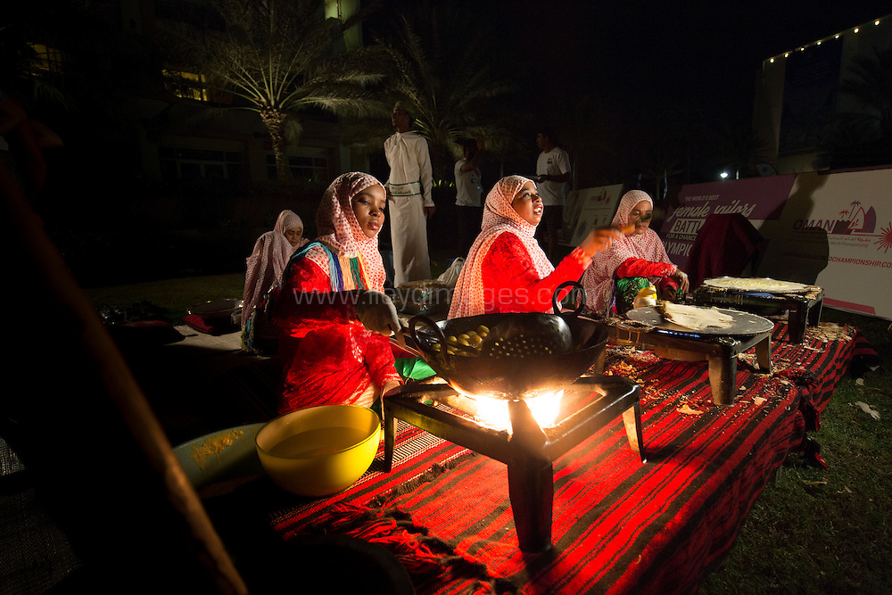 The 2015 Laser Women's Radial World Championship. Mussanah. Oman. November 18-26 November. Day 3 of racing - The Omani Evening<br /> Image licensed to Lloyd Images