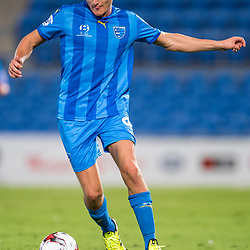 BRISBANE, AUSTRALIA - SEPTEMBER 20: Nikola Mirkovic of Gold Coast City dribbles the ball during the Westfield FFA Cup Quarter Final match between Gold Coast City and South Melbourne on September 20, 2017 in Brisbane, Australia. (Photo by Gold Coast City FC / Patrick Kearney)