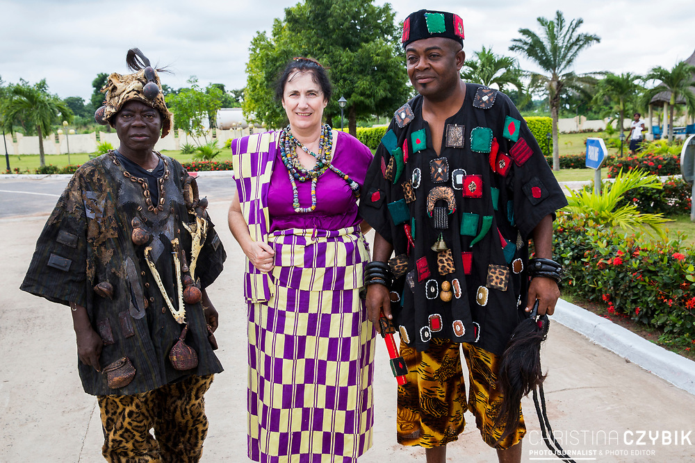 King Cephas Bansah, his wife Queen Gabriele Bansah and Togbe (King) Osei III in Notse<br /> <br /> Day 1 of the Agbogboza Festival in Notse, Togo on September 1st, 2016<br /> <br /> ***Togbe Ngoryifia Cephas Kosi Bansah of Gbi Traditional Area Hohoe Ghana and Traditional, Spiritual and Honorable King of the Ewes and his wife, Queen Mother Gabriele Akosua Bansah Ahado Hohoe Ghana***