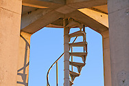 A metal spiral staircase in the concrete observation tower in the Shark Valley section of Everglades National Park WATERMARKS WILL NOT APPEAR ON PRINTS OR LICENSED IMAGES.