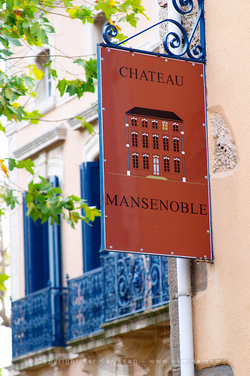 Chateau Mansenoble. In Moux. Les Corbieres. Languedoc. France. Europe.