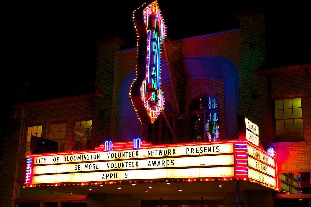 Indiana Theater Buskirk Chumley Marquee