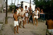 Boys children playing in street, city of Manaus, Brazil 1962