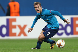 September 28, 2017 - Saint Petersburg, Russia - Aleksandr Kokorin of FC Zenit Saint Petersburg vie for the ball during the UEFA Europa League Group L football match between FC Zenit Saint Petersburg and FC Real Sociedad at Saint Petersburg Stadium on September 28, 2017 in St.Petersburg, Russia. (Credit Image: © Igor Russak/NurPhoto via ZUMA Press)