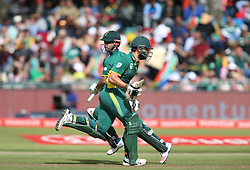 JP Duminy of South Africa and Rilee Rossouw of South Africa take a run during the 5th ODI match between South Africa and Australia held at Newlands Stadium in Cape Town, South Africa on the 12th October  2016<br /> <br /> Photo by: Shaun Roy/ RealTime Images
