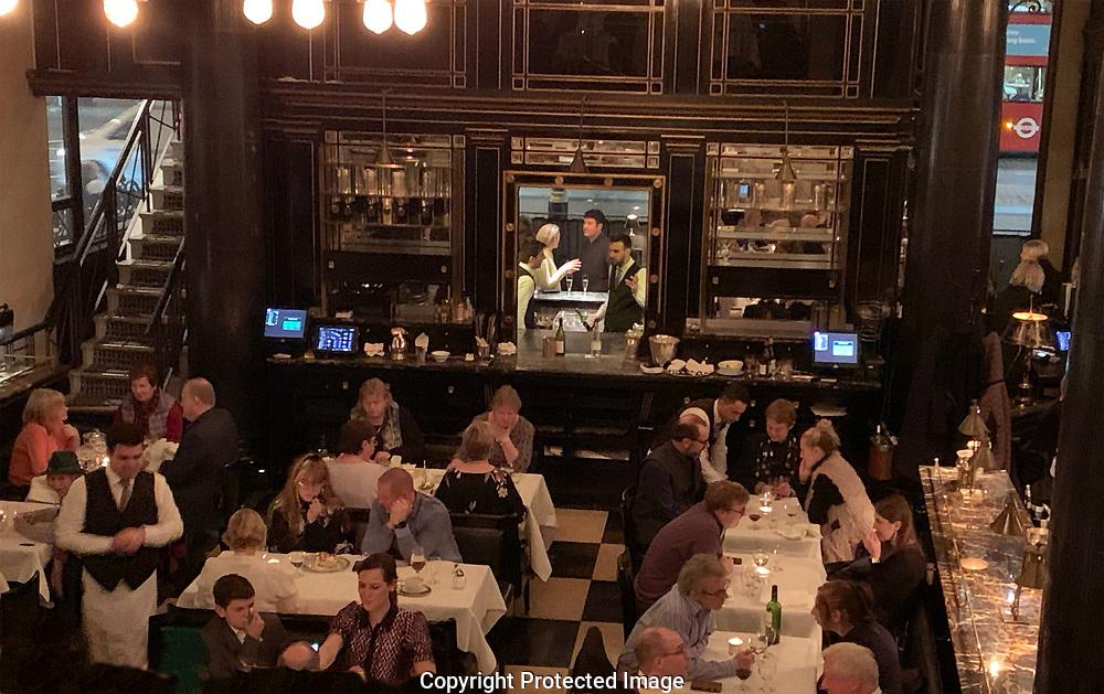 The Wolseley restaurant     in London UK<br /> Photo by Dennis Brack