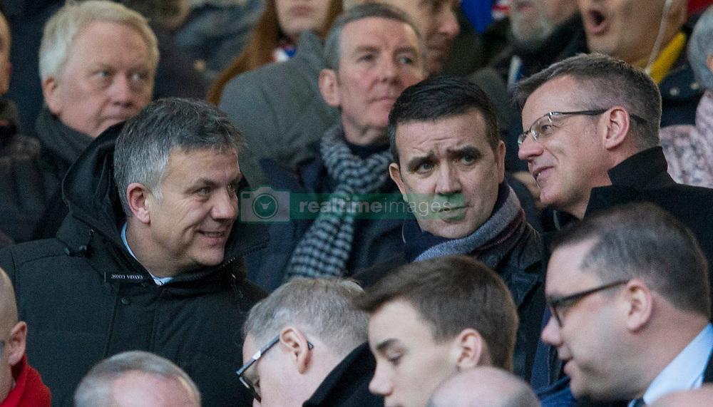 Rangers Mark Allen, Andrew Dickson and Stewart Robertson during the Ladbrokes Scottish  Premiership match at the Ibrox Stadium, Glasgow