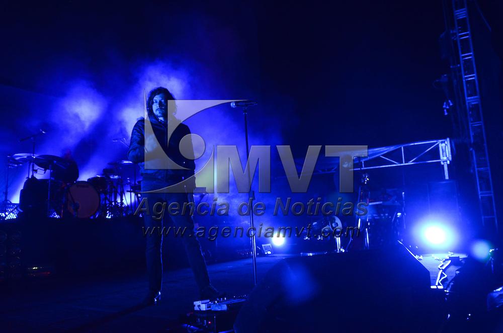 Metepec, México.- Cómo parte de su gira prográmaton 2014, la agrupación musical Zoé se presentó en el Autocinema Moonrise. Agencia MVT / Arturo Hernández S.
