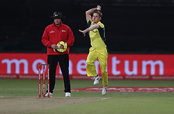 Adam Zampa of Australia during the 3rd ODI match between South Africa and Australia held at Kingsmead Stadium in Durban, Kwazulu Natal, South Africa on the 5th October  2016<br /> <br /> Photo by: Steve Haag/ RealTime Images