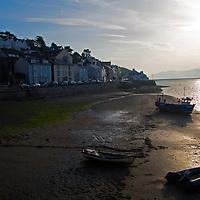 Europe, United Kingdom, Wales, Aberdyfi. Sunrise in seaside town of Aberdovey, Wales.