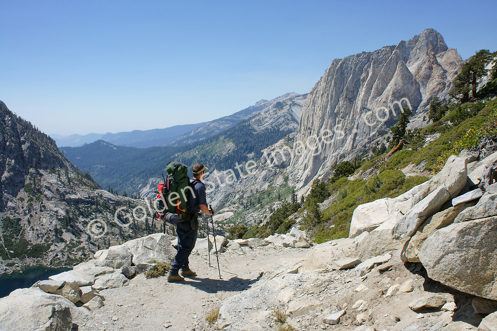 Partial view of the Angels Wings granite formation in Backpacker on Sequoia's Western High Sierra Trail
