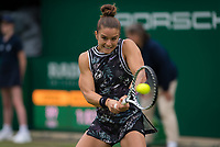 Maria Sakkari of Greece in action during her first-round match at the 2019 Nature Valley Classic WTA Premier tennis tournament