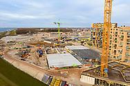 Nederland, Almere, 20190220<br /> Luxe nieuwbouwwijk in Almere Poort, een van de nieuwste wijken van Almere, want vlak aan het IJsselmeer en een jachthaven.<br /> <br /> Foto (c) Michiel Wijnbergh
