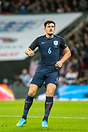England (6) Harry Maguire during the Friendly match between England and Germany at Wembley Stadium, London, England on 10 November 2017. Photo by Sebastian Frej.