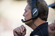 Oakland Raiders head coach Jack Del Rio from the sidelines during a preseason NFL game against the Tennessee Titans at Oakland Coliseum in Oakland, Calif., on August 26, 2016. (Stan Olszewski/Special to S.F. Examiner)