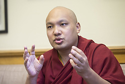 May 30, 2017 - Toronto, ON, Canada - TORONTO, ON - MAY 30  -  ***ADDITIONAL IMAGES IN EMMA***  The Karmapa Lama visited Queen's Park and sat down with the Toronto Star for an interview. Like the Dalai Lama, Karmapa Lama escaped from Tibet and lives in India. He may be the next Dalai Lama. May 30, 2017. Bernard Weil/Toronto Star Bernard Weil/Toronto Star (Credit Image: © Bernard Weil/The Toronto Star via ZUMA Wire)
