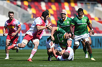 Rugby Union - 2020 / 2021 Gallagher Premiership - Round 17 - London Irish vs Harlequins - Brentford Community Stadium<br /> <br /> London Irish's Agustin Creevy is tackled by Harlequins' Wilco Louw.<br /> <br /> COLORSPORT