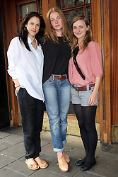 Actresses Rebecca Ferguson, centre, who will play The White Queen with Amanda Hale, left, who plays Margaret Beaufort and Faye Marsay who plays Anne Neville in the new BBC drama The White Queen. .Photo by: Stephen Lock / i-Images