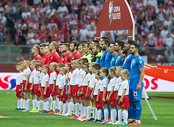 June 10, 2019 - Warsaw, Poland - Polish and Israel line-up before during the UEFA Euro 2020 qualifier Group G football match Poland against Israel on June 10, 2019 in Warsaw, Poland. (Credit Image: © Foto Olimpik/NurPhoto via ZUMA Press)