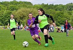 CARDIFF, WALES - Thursday, June 1, 2017: Players during the FAW National Women's & Girls Football Festival in at the Cardiff University Sports Fields in Llanrumney. (Pic by David Rawcliffe/Propaganda)