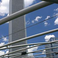 USA, Illinois, Chicago. Millenium Park architecture.