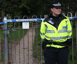 """Didcot,Oxfordshire Wednesday 12th October 2016 GV showing Play Park sEaled off after a woman was raped yards from a SchoolPolice  are appealing for witnesses following an incident of rape in Didcot this evening.<br /> <br /> At around 7pm a member of the public phoned police to say they had located a distressed woman in Newlands Avenue.<br /> <br /> The victim, a woman aged in her thirties, reported having been raped by a man while inside nearby Edmonds Park.<br /> <br /> The victim is being offered support by specially trained officers.<br /> <br /> A cordon  is in place in Edmonds Park and will remain in place while officers are carrying out enquiries in the area.<br /> <br /> Senior investigating officer, Det Ch Insp Mark Glover, said: """"Officers are currently in the early stages of making enquiries in this investigation and ensuring the victim receives the appropriate support.<br /> <br /> """"I would like to appeal for any witnesses, or anyone who saw anything suspicious in this area at around the time of the incident, to contact police. Even if details seem insignificant to you, I urge you to come forward, as they may be important to the investigation.<br /> <br /> """"Officers are carrying out patrols in the area and anyone who has any information, or has any concerns, should approach and speak to an officer or call 101.""""<br /> <br /> Anyone with any information about the incident should contact the 24-hour Thames Valley Police enquiry centre on 101.©UKNIP"""