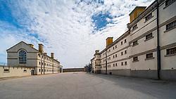 Exterior view of former prisoner halls at Peterhead Prison Museum in Peterhead, Aberdeenshire, Scotland, UK