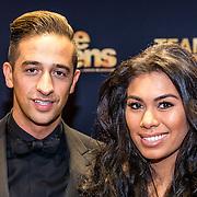 NLD/Amsterdam/20161219 - Filmpremiere Onze Jongens, Yes-R en partner Cheyen van der Slee