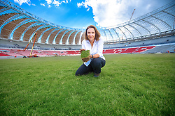 A Eng. Agr. M. Sc. Maristela Kuhn, consultora de gramados contratada pela FIFA/Col no estádio Beira Rio em 01 de dezembro de 2013. O Estádio Beira Rio, que receberá jogos da Copa do Mundo de Futebol 2014, tem mais 85% da sua reforma concluída e re-inauguração agendada para 04 de abril de 2014. FOTO: Jefferson Bernardes/ Agência Preview