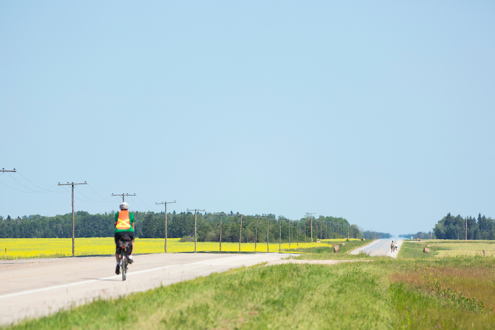 Rest stop, Highway 3, 15 km west of Town of Hudson Bay, Day 6.