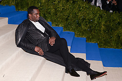 Sean Diddy Combs arriving at The Metropolitan Museum of Art Costume Institute Benefit celebrating the opening of Rei Kawakubo / Comme des Garcons : Art of the In-Between held at The Metropolitan Museum of Art  in New York, NY, on May 1, 2017. (Photo by Anthony Behar) *** Please Use Credit from Credit Field ***
