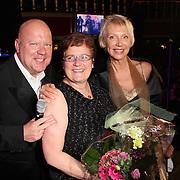 NLD/Uitgeest/20080116 - Uitreiking Popularitiets award Noord Holland 2008, Yvonne Hoebe, Gaston Starreveld en Carla Geels