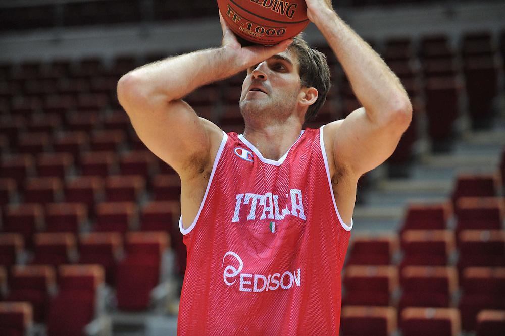 Danzica - Polonia 03 Agosto 2012 - Nazionale Italia Maschile Allenamento - <br /> Nella Foto : DAVID CHIOTTI<br /> Foto Ciamillo